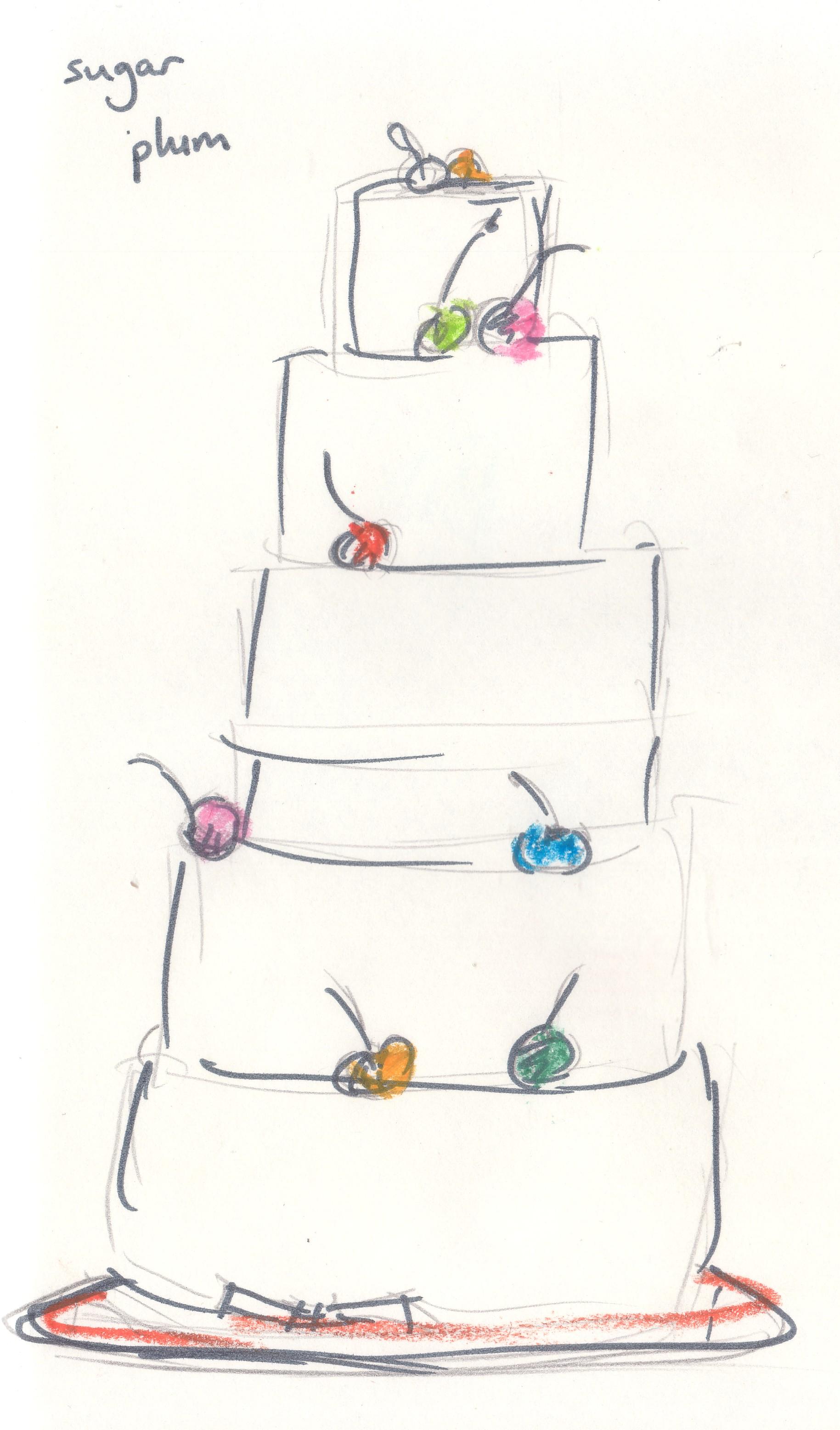 Sugar Sketch Cake Design : parisian patisseries tangerine drawings