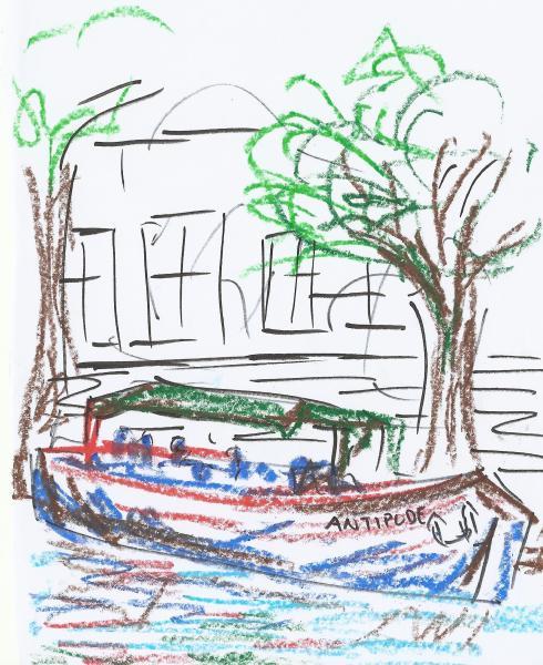 canal de l'ourcq, peniche antipode