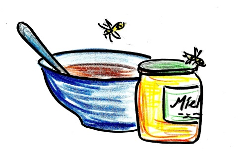 soup and honey and bees