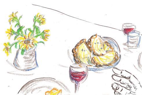 empanadas, drawing 2