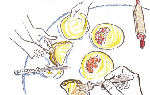 empanadas, drawing